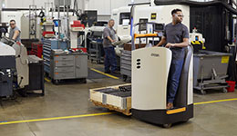 Electric forklift by Crown forklift.