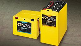 Forklift batteries and forklift battery.