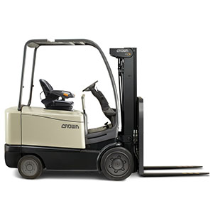 Electric forklift from Crown forklift company.
