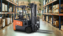 Forklift for sale near me with electric pallet jack.